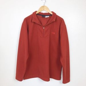 The North Face Men's Sweater 1/4  Zip Red …
